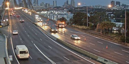 Intersection of Victoria Road and Anzac Bridge -  live webcam , New South Wales Sydney