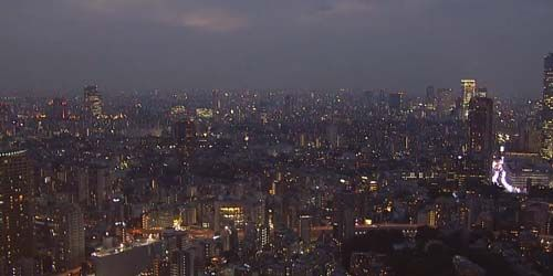 City center, skyscrapers, park -  live webcam , Kanto Tokyo