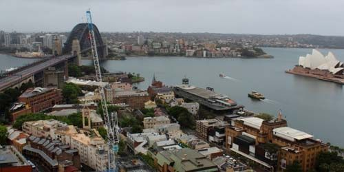 Harbour Bridge, Port Jackson e il Teatro dell'Opera -  Webcam , Nuovo Galles del Sud Sydney