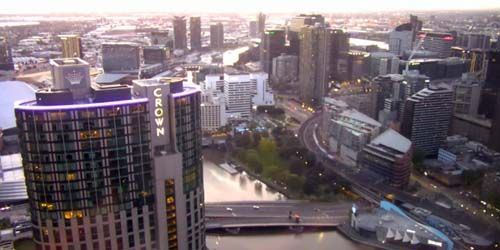 Panorama from Platinum Apartments -  live webcam , Victoria Melbourne