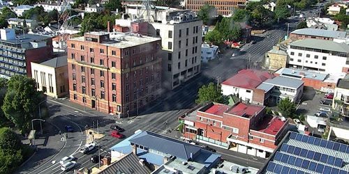 Solar panels in the city center -  live webcam , Tasmania Hobart