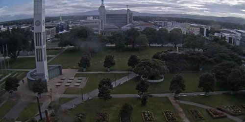 Square towards the Tararua ridges -  live webcam , Manawatu Whanganui Palmerston North